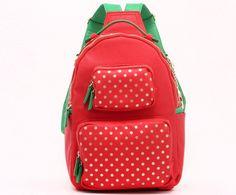 Backpack-Medium-Racing Red/Gold/Fern Green-Natalie Michelle