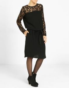 9c8ef9d3beda Robe ajustée unie noir Femme - Jacqueline Riu Collection Printemps