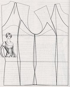 pattern making - one shoulder top - vma. Pattern Cutting, Pattern Making, Diy Clothing, Sewing Clothes, Sewing Patterns Free, Clothing Patterns, Sewing Hacks, Sewing Projects, Modelista