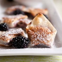 Blackberry Cabernet Wontons. Perfect for a wine party, book club, pot luck, or just a lazy afternoon. #foodgawker