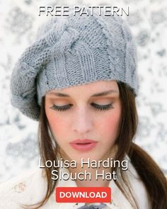 Two totally trendy hats by Louisa Harding are available as a free pattern, exclusive to LoveKnitting. Louisa Harding Akiko These hats are knitted with the