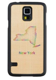 Rainbow New York map Maple Galaxy S5 Case $49.65