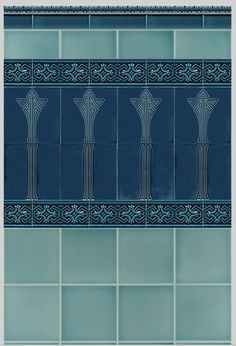 New Art Nouveau Architecture Decor Wall Tiles Ideas Decorative Wall Tiles, Ceramic Wall Tiles, Tile Art, Azulejos Art Nouveau, Art Nouveau Tiles, Art Therapy Projects, Easy Art Projects, Art Installation, Art Deco Party