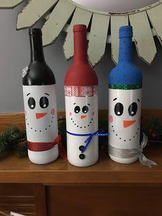 Snowmen bottles