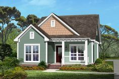 Cottage Style House Plan - 3 Beds 2 Baths 1300 Sq/Ft Plan #430-40 Exterior - Front Elevation - Houseplans.com