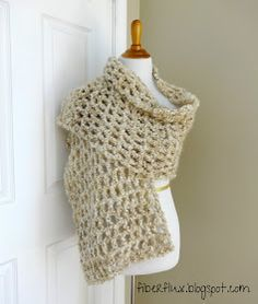 The Vanilla Chai Shawl is soft, lofty, light as air and will keep you cozy without added weight. Crocheted in a simple mesh stitch with...