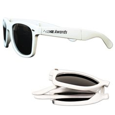 Personalized Foldable Blues Brothers Style Glasses - White