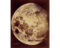 Antique moon photograph art print Vintage lunar photography   Etsy Moon Phases Art, Moon Art, Solar System Art, Celestial Map, Outer Space Decorations, Deer Wall Art, Cosmic Art, Art Nouveau Poster, Thing 1
