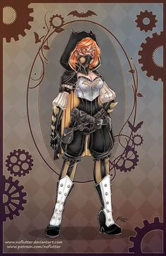 The artist known as NoFlutter is legendary for inspiring cosplay with her art, and I'm sure that we'll be seeing some of these steampunk DC superheroine designs come to life in the near future (the …