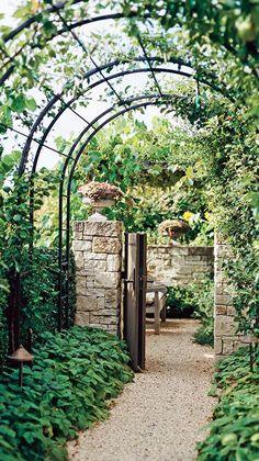 Love this!     DIY arbor makes a cozy outdoor enclosure • photo: BHG