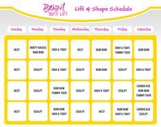 Brazil Butt Lift Calendar