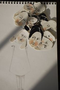 aris moore - like the idea of heads I've drawn and colored and cut out ready for use. Might have to try this.