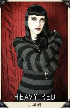 Gothic Hoodies and shirts by Gothic Clothing designer Ondine for Heavy Red Couture Noir. Emo to tattered and torn vintage to modern day Gothic Fashion. Dark Fashion, Gothic Fashion, Fashion Top, Modest Fashion, Gothic Hoodies, Gothic Clothing Stores, Red Clothing, Gothic Mode, Dark Gothic