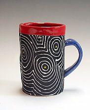 "Black Optix Mug by Vaughan Nelson (Ceramic Mug) (4"" x 4"")"