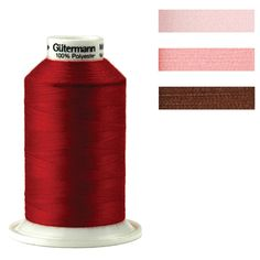 Title: Serger Thread 1094 Yards Model number: 1001S-410 Dimensions: 1094 yards Materials: Polyester Item description: Gutermann's Premium Serger Thread is 100% Polyester. It comes on Mini King spools