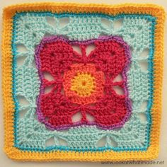 Block a WEek CAL 2014 #10 - Butterfly Garden Crochet Square by Chris Simon
