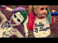 KIDS Version Suicide Squad   Joker & Harley Quinn Makeup - https://www.avon.com/?repid=16581277 Avon Eyebrow Solutions ~~ Open Me! ~~ This is our Kids Version of Joker & Harley Quinn! Xx PRODUCTS USED: JOKER: * Snazaroo Face Paint White * Snazaroo Special FX Wax * Lunatick Cosmetic Labs HD Pressed Powder – Translucent * Snazaroo Face Paint – Grass Green * Paris Memoried Liquid Eyeliner * iMagic 12 Color Flash Case – Black, Red, White * P.S. Matte L
