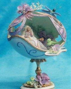 The Amethyst Fairy Egg designed & created by Gloria Harrison, Oregon USA