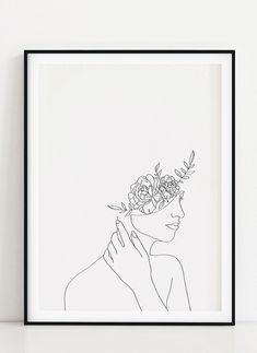 Line Art Flowers, Flower Art, Art Floral, Continuous Line Tattoo, Illustration Blume, Single Line Drawing, Line Sketch, Art File, Floral Illustrations