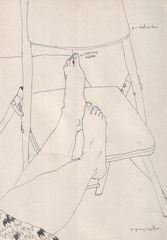 voeten op de stoel by Marjolein Verbruggen
