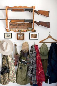 From Garden & Gun   Photo Credit: Patricia Lyons . Hunting gear.