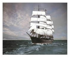 19th Century Sailing Photographs | 19th Century Sailing Ships / Star of Alaska