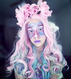 Lil galactic nymph~ ~ When you didn't have time for Halloween so you celebrate it in the best way you know how.... late af. Edit: Also! Please be sure to check out my last post and ask me any questions for my new YouTube video!! • • Synthetic lace front wig is from @heahair ~ Flower crown a unicorn jewelry is from @misscandyholic Use my code 'POLITA' to get free shipping till the end of November! ~ Pink velvet moon choker is from @taypopco Discount Code: LITTLEMISSPO