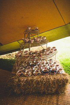 Tea Cup Cakes Rustic Tipi Farm Wedding http://aniaames.co.uk/