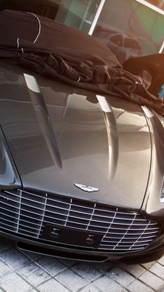 Aston martin, supercar, light, top view