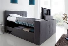 Dream Upholstered Ottoman TV Bed - Luxurious and contemporary, this bed is designed to suit all tastes