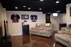 See how we transformed this Pickerington Ohio basement into a fan cave and music studio here. http://www.basementfinishingohio.com/blog/homeowners-seek-basement-finishing-in-pickerington-ohio.html