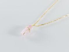 *18k pink tourmaline necklace   K18ピンクトルマリン結晶ネックレス   Y-bijou 天然石アクセサリー