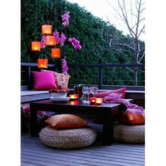 Small Balcony Decor, Small Patio, Small Balcony Furniture, Cozy Patio, Backyard Patio Designs, Backyard Ideas, Garden Ideas, Backyard Decorations, Backyard Projects