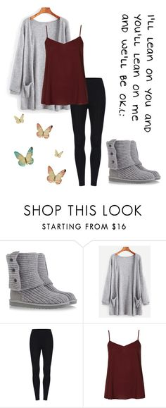 """We'll be okay :)"" by takemetothecookies ❤ liked on Polyvore featuring UGG Australia and Topshop"