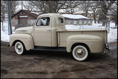 1950 Ford F1 Pick-Up. Imagine, eggshell blue and keep the white wall tires, my car