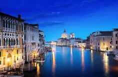 Night Time Venice Canal Wall Mural   MuralsWallpaper.co.uk