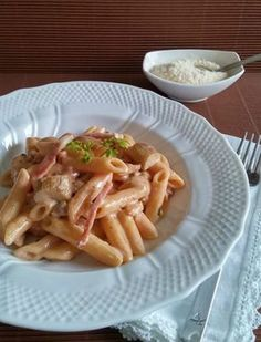 PASTA ALLA FRANCESCANA My Favorite Food, Favorite Recipes, Pasta Recipes, Cooking Recipes, Romanian Food, Rigatoni, Original Recipe, Gnocchi, Italian Recipes