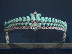 Cartier Tiara, circa 1936: platinum, diamonds, and turquoise, @GrandPalais Antique Jewelry.