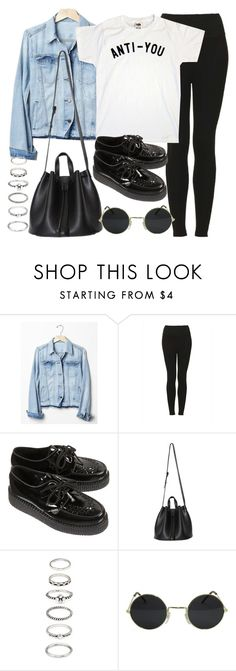 """""""Style #11477"""" by vany-alvarado ❤ liked on Polyvore featuring Gap, Topshop and Forever 21"""
