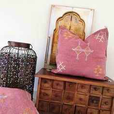 """Cactus Silk Cushions are the new """"IT"""" in soft furnishings, we have a range of colours available. Soft Furnishings, Cushion Covers, Woven Fabric, Moroccan, Color Pop, Cactus, Artisan, Cushions, Range"""