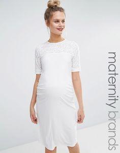 727c6ab6b53a5 Bluebelle Maternity Mesh Insert Bodycon Dress at asos.com. Maternity ShopsMaternity  DressesPregnancy ...
