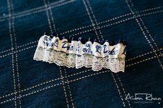 A garter with Duke University's Blue Devils || Bride's Accessories
