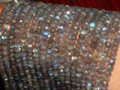 SR Gems: They have high quality stones at great prices. Labradorite Faceted Beads Rundell Shape 4x5.mm Approx 100% Natural Top Quality Wholesale Price New Arrival