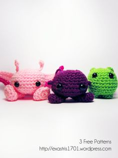 Free Crochet Patterns for all three of these space cuties!!