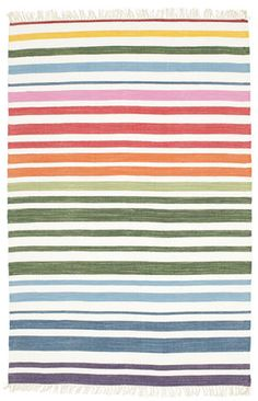 These beautiful handwoven carpets, produced in India are entirely made of cotton. With their simple patterns they are reminiscent of the more traditional and commonly known rag carpets. White Carpet, White Rug, Types Of Carpet, Uppsala, Striped Rug, Color Stripes, Modern Rugs, Woven Rug, Stockholm