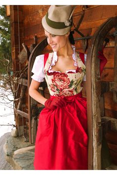 Dirndl Sportalm Amberg, buy apron included in costumes Angermaier online