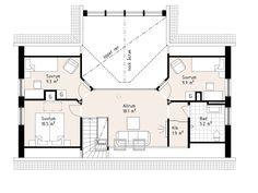 Kärngården - stort hus med mycket ljusinsläpp från Myresjöhus Planer, Villa, Floor Plans, Diagram, Farmhouse, Cottage, How To Plan, Home, Annex