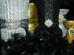 Wedding Centerpiece Wedding Decorations Silver Black by KPGDesigns, $39.00