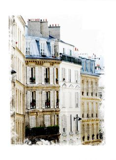Houses in Paris  Paris Photo  Fine Art Photography by quatregitans, $30.00