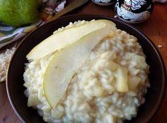 RISOTTO PERE E GORGONZOLA Soul Food, Grains, Cheese, Foodie, Recipes, Verona, Vegetarian, Gastronomia, Proposal